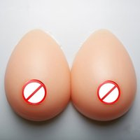 Wholesale Silicone Breast Cosplay - Silicone Breast Transgender Cosplay Prop Cup A to Cup F Super Soft Good Hand Feeling Artificial Form Mastectomy Simulation Teardrop Boobs