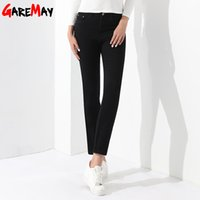 Wholesale Jeans Casual Mujer - Female Jeans Black Casual Denim Trousers Pantalones Mujer Jeans Female Middle-Waisted Women Clothing Pants Stretch GAREMAY