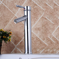 Wholesale Solid Brass Centerset Chrome Bathroom - Bathroom Sink Faucet Diamond Shape Single Handle Chrome Finished Solid Brass Hot And Cold with Ceramic Valve Faucet