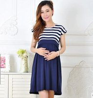 Wholesale Mothers Pregnant - 2017 New Women Long Dresses Maternity Nursing skirt for Pregnant Women Breastfeeding Women's Clothing Mother Home Clothes L XL
