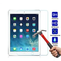 Wholesale Ipad Real - Tempered Glass Screen Protector For iPad mini 2 3 4 Air Air 2 Shockproof Toughened 9H Real Glass LCD Tablet Film Clear Cover