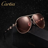 Wholesale Oval Chains - polarized sports sunglasses men women brand designer carfia 4225 gold chain sunglasses classic Wholesale freeshipping