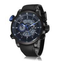 Wholesale Digital Watch Blue Lcd - Famous brand weide digital quartz LCD Sport watch wristwatch male man Blue dial 10M waterproof classic army clock
