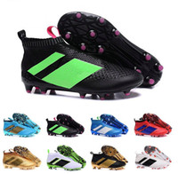 Wholesale Cheap Slip Boots - 2017 Cheap Online Wholesale Ace 16+ purecontrol soccer boots Pure Control Football Shoes Men Soccer Cleats Boots Cheap Best Quality
