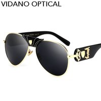 Wholesale High Quality Fashion Optical Frames - Vidano Optical 2017 Latest Arrival Luxury Pilot Sunglasses For Men & Women Fashion Designer Sun Glasses Stylish High Quality UV400 Eyewear