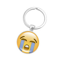 Wholesale old fashioned toys - QQ Expression Pendant Funny Glass Metal Fashion Personality Smiley Yellow Emoji Key Chain Various Styles Hot Sale 1 7ss I1