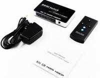 selector hdmi al por mayor-HDMI Switch 3 In 1 Out HDMI remoto 3x1 Switch Audio Extractor 3 puertos HDMI selector