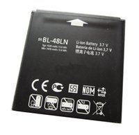 Wholesale Optimus 3d Battery - ALLCCX high quality real capacity battery BL-48LN for LG SU870 C800G C800 LS696 LS970 myTouch Optimus 3D P720 P725 VM696