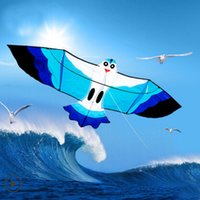 Wholesale Chinese Flying Toys - Wholesale- free shipping high quality 2m seagull kite with100m kite line flying bird kite flying toys hcxkite traditional chinese kites
