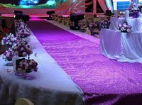 Wholesale 1 m Wide X m roll Shiny Pearlescent Wedding Carpet Fashion Aisle Runner T station Carpet For Party Decoration Supplies LLFA