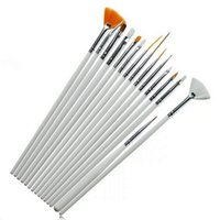 Wholesale Decoration Paint Brush - 15pcs set White Nail Art Brushes Kit Professional Nail Equipment Drawing Dotting Tool Decorations Gel Painting Pen Nail Brush ZA1631
