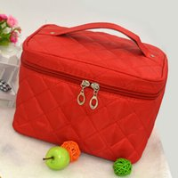 Wholesale Train Purse - Wholesale- VSEN Hot New Zipper Cosmetic Storage Make up Bag Handle Train Case Purse