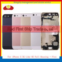 Wholesale Middle 5g - High Quality For iPhone 5 5G Housing and 5 Like SE Middle Frame Bezel Chassis Back Full Housing Battery Door Rear Cover Body With Flex Cable