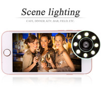 Wholesale Led Lighting For Night Fishing - Mini Selfie Fill Light Portable Phone Flash LED Night Flashlight with Wide Angle Fish eye Macro Lens For Smartphone Tablet