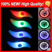 Wholesale Tire Lighting - 1USD Free shipping LED Flash Tyre Light Bike Wheel Valve Cap Light Car Bike Bicycle Motorbicycle Motorcycle LED Wheel Tire lamp 9 colors Hot