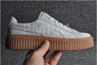 Wholesale Shoes Casual Men Lowest Price - Lowest Price!!!2017 Suede Creeper Black Star White Black Women Men Casual Shoes, Fashion Ladies Rihanna shoes sneakers women men 36-44