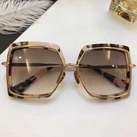 Wholesale 24k Gold Designer - NARCISSUS Sunglasses Luxury Popular Titanium Designer 24K Gold Plated Retro Style Square Big Frame Coating Mirror Lens With Original Box