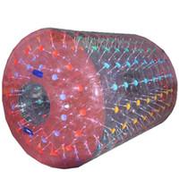 inflables de agua grandes al por mayor-Rodillo de agua Zorbing Water Tube Rolling Ball Juguetes de ruedas grandes de hámster humano Inflable 2.4m 2.6m 3m con envío gratuito