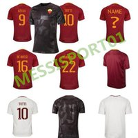 Wholesale Football Specials - top quality 2017 2018 ROMA soccer jersey 17 18 ROME TOTTI special DE ROSSI DZEKO EL SHAARAWY home away 3RD football shirt