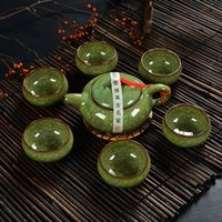 Wholesale Traditional Chinese Tea Set - Ice crack glaze Chinese Traditional Tea Set, 1 Teapot With 6 Teacup, Elegant Design Tea Sets Service Tetera, Chaleira Bule,T001A