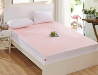 Wholesale Twin Size Terry Towel Waterproof Quilted Mattress Bed Cover Pad Bug Dust Protector Fitted Sheet Washable Bedspread Bedding cm
