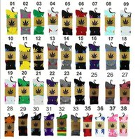 Wholesale 38 colors Hot High Crew Socks Skateboard hiphop socks Leaf Maple Leaves Stockings Cotton Unisex Plantlife Socks