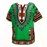 Wholesale Thailand Fashions Wholesalers - Wholesale- (fast shipping) 2016 Newest Fashion Design African Traditional Print 100% Cotton Dashiki T-shirt for unisex (MADE IN THAILAND)