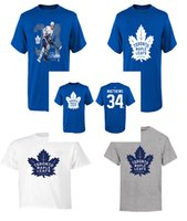 Wholesale Nhl Shirts - 2017 NHL Auston Matthews Toronto Maple Leafs Name & Number T-Shirt for man women kid Calder Trophy Winner T-Shirt