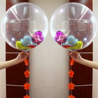 Wholesale Pearl Clear Coat - 2 5hy Large 24 Inch Transparent Foil Balloons Toy Clear Helium Airballoon DIY Confetti Toys Round Balloon For Wedding Birthday Party Decor