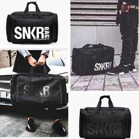 Wholesale Foldable Travel Bags - Bags Men Fashion Handbags Women Large Capacity Waterproof Fitness Gym Foldable Ployester Travel Duffle Sport Crossbody Bag 53*31*10CM