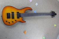 Wholesale Pickups For Bass - Free shipping !! 2017 New Arrival High Quality MODULUS 5 Strings Active Pickups Bass Guitar Orange Water Ripple In Stock