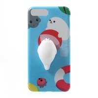 Wholesale stress relieving metal online - 3D Cat Squishy Phone Bag Case for IPhone Plus Capa Soft Squeeze Toys Back Cover for s Plus Stress Relieve Shell