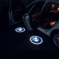 Wholesale Peugeot Light Logo - Case for Peugeot Case for Citroen Car Logo LED Interior Lights Welcome Door Ghost Shadow Lamps 12V