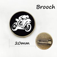 Wholesale Motorbike China - Steam punk Motorbike brooches new arrival promotion upscale motorcycle art picture creative motor riding sports badge pins