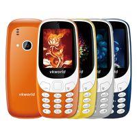 Wholesale Elder Cell - Original Vkworld Z3310 3D Screen 2.4 inch Elder Mobile Phones Loud Speaker FM Radio LED Light 2MP Camera Dual SIM Cell phone