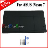 Wholesale Asus Bezel - Wholesale- For ASUS Google Nexus 7 2nd gen 2013 LCD Display Touch Screen Digitizer Black + Bezel Frame Assembly 4G LTE wifi version