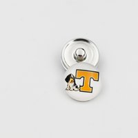 Wholesale 10 Styles Newest Tennessee Volunteers Snap Buttons mm Glass NCAA College Sports Snap Charms Fit For Ginger Snap Jewelry