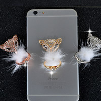 Wholesale Fox Wholesale Cell Phones - 2017 new 360° Fox wistiti Fashion Universal Mobile Phone Ring Stent Cell Phone Ring Holder Finger Grip with and Gold bag packing