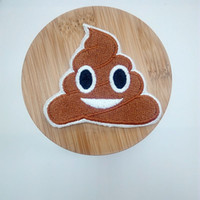 Wholesale Funny Patches - Smile Poo Poop Unchi Cartoon Cute Kids Brown Funny Applique Iron on Patch Sew