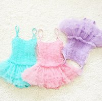 Wholesale Infant Girl Swim Suits - One piece swimwear children swimming suit infant swimsuit girls Lace kids bathing suits with cap 5 colors free ship
