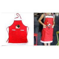 Wholesale Cooking Ornament - Red Apron Family Kitchen Cooking Xmas Ornaments Party Supplies Christmas Decorations For Home New Year