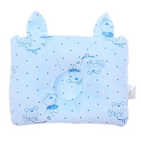 Wholesale Newborn Flat Head - Newborn Pillow Baby Headrest Neck Protection Infant Prevent Flat Cute Head Pillows House Bedding Soft Sleeping Positioner VT0541