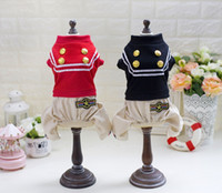 Wholesale Spring Sweater Vest For Boys - 2017 New Fashion Design Pet Clothes Small Medium Large Puppy Apparel Four Leg Police Uniform for girls and boys Wholesale