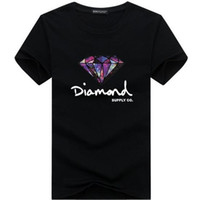 ingrosso abbigliamento diamante-3D diamante uomo manica corta t shirt skateboard marchio di moda abbigliamento hip hop camisetas mens top streetwear tee shirt homme