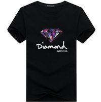 roupa do hip hop do diamante venda por atacado-Homens 3D de diamante de manga curta t shirt da marca de skate roupas de moda hip hop camisetas dos homens tops streetwear camiseta homme