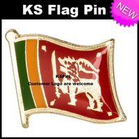 Wholesale flag pin badges - Sri Lanka Flag Badge Flag Pin 10pcs a lot Free shipping