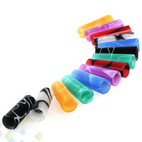 Wholesale candy drip tips for sale - Group buy Colorful Acrylic Friction Drip Tip Candy Drip Tips O Ringless EGO Atomizer Mouthpieces for Vapor Electronic Cigarettes