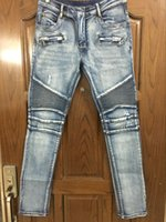 Wholesale regular bp - Wholesale-NWT BP Men's Stylish Fashion Stretch distressed Slim acid washed biker Jeans Size 28-42 (#957),Epacket Fast Free Shipping