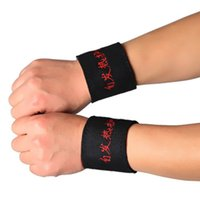 Vente en gros - Nouveau 2 pcs Magnetic Therapy Wrist Brace Protection Belt Spontaneous Heating Wrist Protection