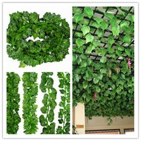 Wholesale Small Leaves Plants - 2.1 m small simulation leaves green leaf simulation ivy leaf vine Ivy leaves false green leaves vines simulation flowers
